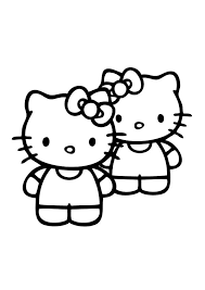 friends kitty coloring pages place color