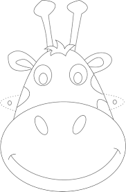 cow mask template coloring page free download