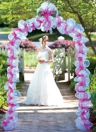 How To Decorate A Wedding Arch Deco Mesh Wedding Candle Rings Decorative Items And Deco Mesh