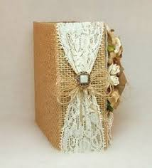 burlap photo album ivory silk with snowflake brooch photo album from layla grayce