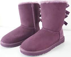 ugg bailey bow sale size 7 ugg australia boots ugg australia bailey bow boot purple suede