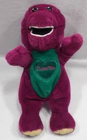 Barney And The Backyard Gang Doll Barney The Dinosaur Purple Plush Stuffed Animal Original Lyons