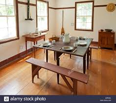 dining room interior in a shaker home stock photo royalty free