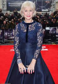helen mirren stuns in a lace dress with colin firth on eye in the