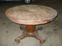 Dining Room Awesome Oak Round Pedestal Table For Sale Antiques - Round pedestal dining table in antique white