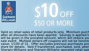 sherwin williams 30 off paint sale 10 off 50 coupon