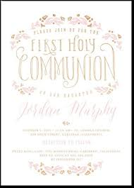 communion invitations encircled in flowers shabby chic vintage looking communion