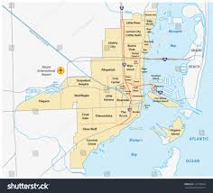 Little Havana Miami Map by Miami Administrative Map Stock Vector 157796876 Shutterstock