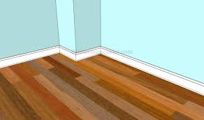How To Finish Laminate Flooring Edges How To Install Baseboard Trim Howtospecialist How To Build