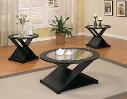 glass coffee table set of 3 3 piece round occasional table set