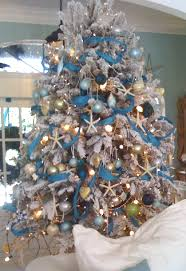 Decorated Christmas Tree Blue by 25 Coastal Christmas Holiday Trees Inspired By The Sea