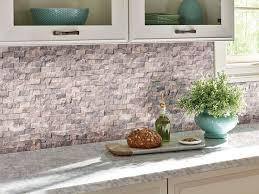 silver travertine 1x2 split face backsplash tile