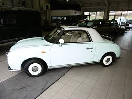 nissan figaro used nissan figaro retromotive fk10 green 1 0 convertible