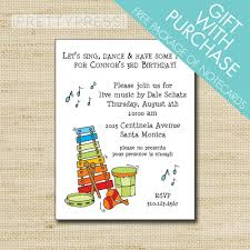 What Is Rsvp In Invitation Card Music Theme Birthday Party Invitation Cards U0026 Envelopes With