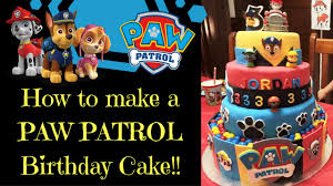 how to make a paw patrol birthday cake youtube