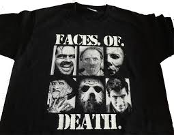 Halloween Michael Myers T Shirts by Faces Of Death T Shirt Michael Myers Freddy Kruger Hannibal