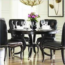 Dining Room Table Sets Leather Chairs by Black Dining Room Furniture Sets New Decoration Ideas Black And