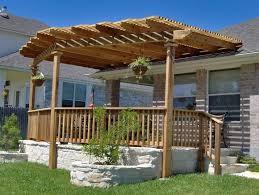 exterior design inspiring attached pergola designs for patio deck