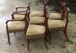 Antique Regency Dining Chairs Dining Chairs Set Of 8 Regency Mahogany Antique Dining Chairs