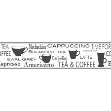 wallpaper borders coffee cups fine decor wallpaper borders fine decor black white coffee tea cup