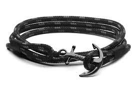 bracelet black images Tom hope triple black handcrafted anchor bracelets jpg