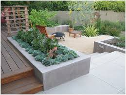 Backyard Stamped Concrete Patio Ideas by Backyards Beautiful Seating Wall Fire Pit And Stamped Concrete