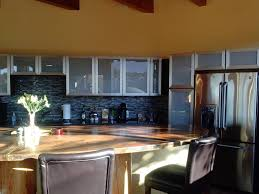 Different Colored Kitchen Cabinets Two Different Color Kitchen Counters Inspiring Home Design