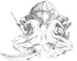 angel and demon pencil ver by darkdragon77 on deviantart
