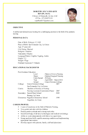 easy resume templates easy resume template makes your simpler