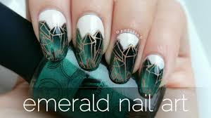 emerald nail art reverse stamping magnetic polish youtube