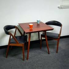 Mid Century Bistro Table Two Seater Dining Tables 2 Person Dining Room Table Regarding 2
