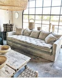 canape boheme canapé sur mesure boheme chenille washed beige ciment avec