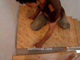 install bamboo staircase