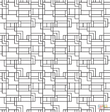 ashlar lines tiled pattern coloring page free printable coloring