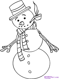how to draw a snowman step by step christmas stuff seasonal