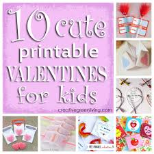 kids valentines day cards 10 printable valentines for kids creative green living