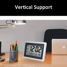 Desk Alarm Clock Amazon Com Ewtto 2138 Large Display Digital Wall Desk Alarm Clock