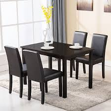 ebay dining table and 4 chairs 5 piece dining table set 4 chairs wood kitchen dinette room