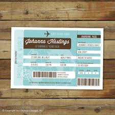airplane ticket birthday party invitation around the world