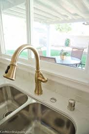steel champagne bronze kitchen faucet single hole handle pull out