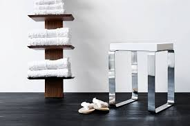 Bench For Bathroom - wet style cube bench for bathroom glam