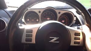 nissan 350z steering wheel nissan 350z 3 5 v6 2009 youtube