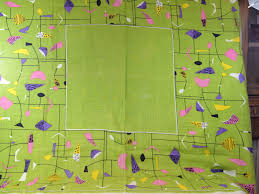 modern table linen mid century modern linen tablecloth omero home