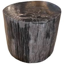 petrified wood side table side tables palecek petrified wood