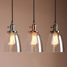 decoration industrial glass light plug in industrial pendant