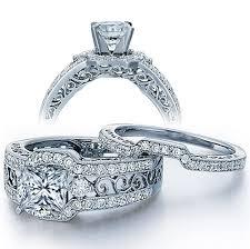 princess cut wedding ring certified 2 carat princess cut vintage wedding ring