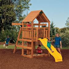 Backyard Discovery Weston Cedar Wooden Swing Set Inexpensive Swing Sets Crafts Home