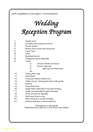 wedding agenda templates template wedding reception agenda template