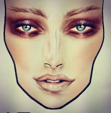 45 best makeup sketches images on pinterest mac face charts