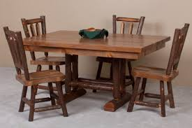 Hickory Dining Room Chairs by Sawtooth Hickory Dining Room Barnwood Hickory Table And Chairs